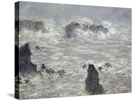 Tempête, côtes de Belle-île-Claude Monet-Stretched Canvas Print