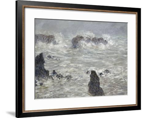 Tempête, côtes de Belle-île-Claude Monet-Framed Art Print