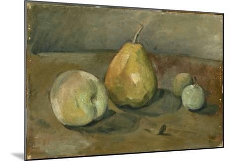 Nature morte, poire et pommes vertes-Paul C?zanne-Mounted Giclee Print