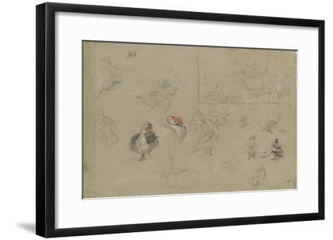 Etudes de canards-Pieter Boel-Framed Art Print