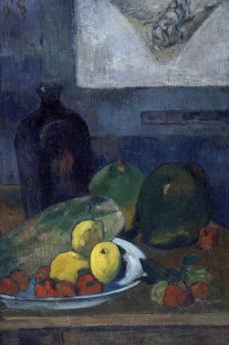 Nature morte au dessin de Delacroix-Paul Gauguin-Stretched Canvas Print
