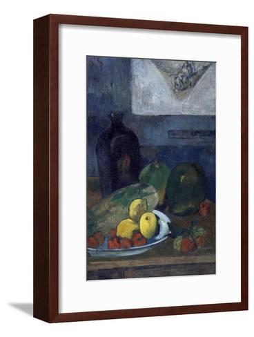 Nature morte au dessin de Delacroix-Paul Gauguin-Framed Art Print