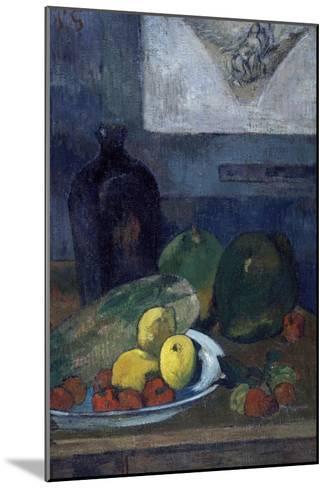 Nature morte au dessin de Delacroix-Paul Gauguin-Mounted Giclee Print