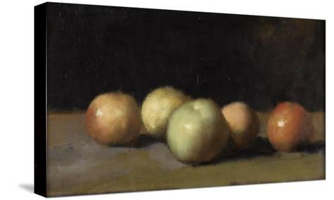 Nature morte à la pomme, la poire et aux pêches-Jean Jacques Henner-Stretched Canvas Print
