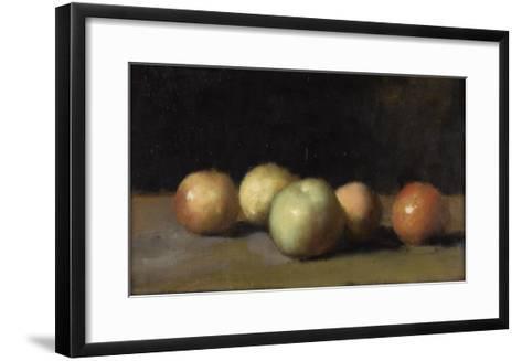 Nature morte à la pomme, la poire et aux pêches-Jean Jacques Henner-Framed Art Print