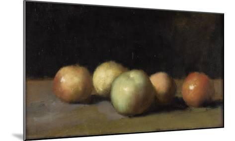 Nature morte à la pomme, la poire et aux pêches-Jean Jacques Henner-Mounted Giclee Print