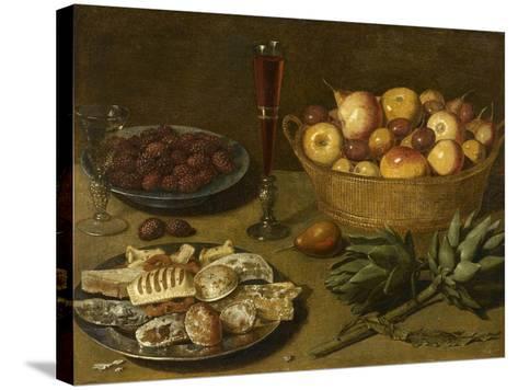 Nature morte aux fruits et aux artichauts--Stretched Canvas Print