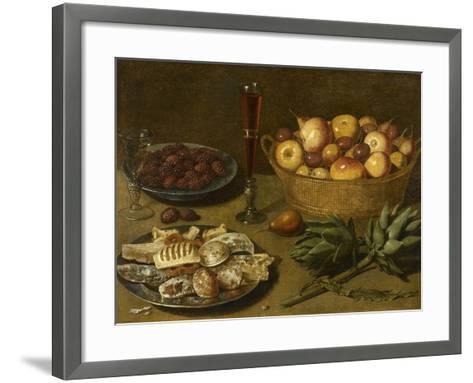 Nature morte aux fruits et aux artichauts--Framed Art Print