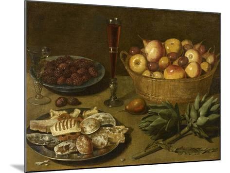 Nature morte aux fruits et aux artichauts--Mounted Giclee Print