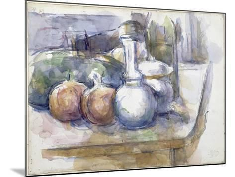 Nature morte avec fruits, carafe, sucrier et bouteille-Paul C?zanne-Mounted Giclee Print