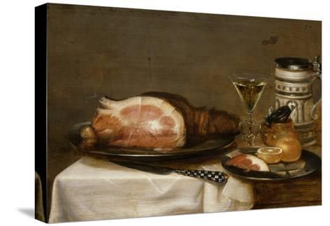 Nature morte au jambon-Jacob Fopsen Van Es-Stretched Canvas Print