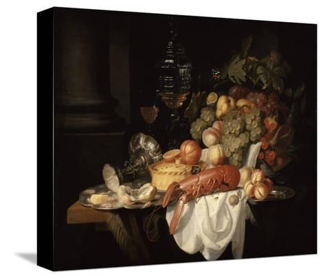 Nature morte au homard-Johannes Hannot-Stretched Canvas Print