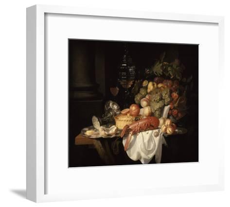Nature morte au homard-Johannes Hannot-Framed Art Print