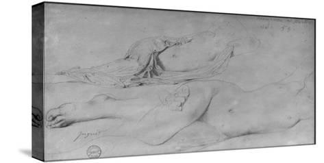 Etude pour l'Odalisque à l'esclave-Jean-Auguste-Dominique Ingres-Stretched Canvas Print