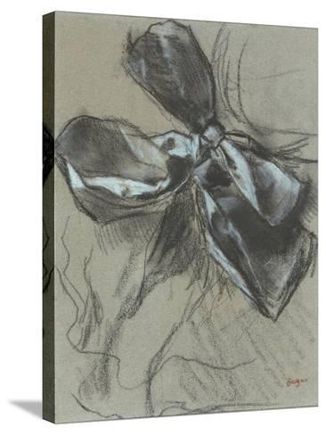 Etude d'un noeud de ruban-Edgar Degas-Stretched Canvas Print
