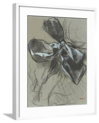 Etude d'un noeud de ruban-Edgar Degas-Framed Art Print