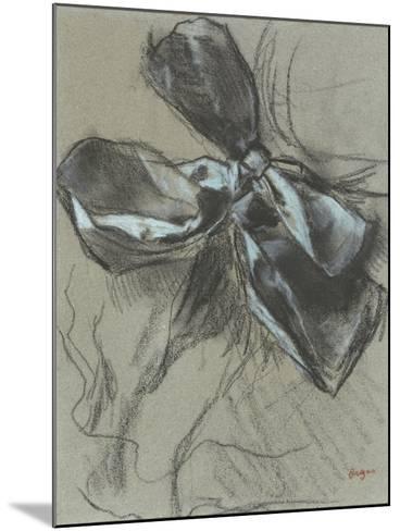 Etude d'un noeud de ruban-Edgar Degas-Mounted Giclee Print