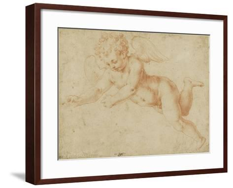 Study of an Angel's Face, Looking Towards the Earth-Giorgio Vasari-Framed Art Print