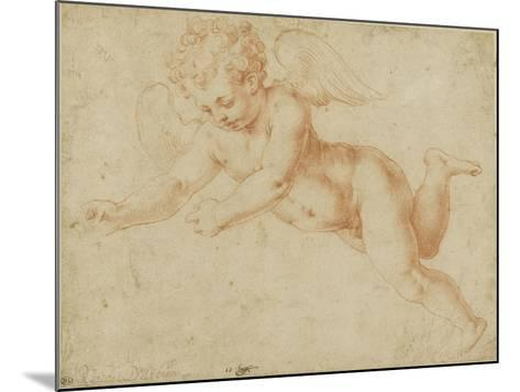 Study of an Angel's Face, Looking Towards the Earth-Giorgio Vasari-Mounted Giclee Print