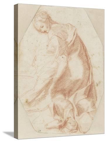 Etude pour une sainte Madeleine soutenant la Vierge-Federico Barocci-Stretched Canvas Print