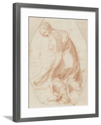 Etude pour une sainte Madeleine soutenant la Vierge-Federico Barocci-Framed Art Print