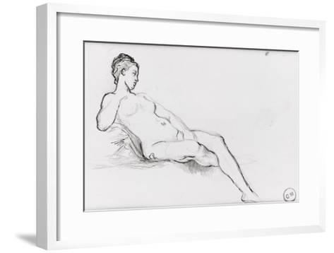 Etudes pour Vénus apparaissant aux premiers hommes-Gustave Moreau-Framed Art Print