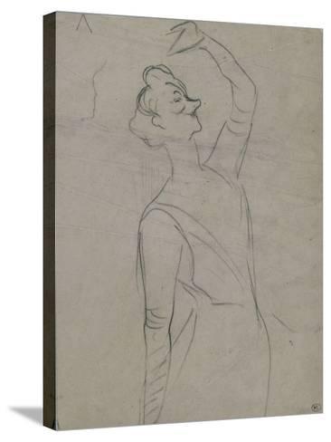 Study for Yvette Guilbert (1867-1944), the Left Arm-Henri de Toulouse-Lautrec-Stretched Canvas Print