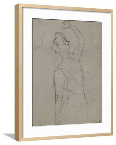 Study for Yvette Guilbert (1867-1944), the Left Arm-Henri de Toulouse-Lautrec-Framed Art Print