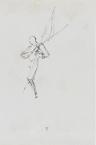 """Etude pour le """"Baptême du Prince impérial""""-Thomas Couture-Stretched Canvas Print"""