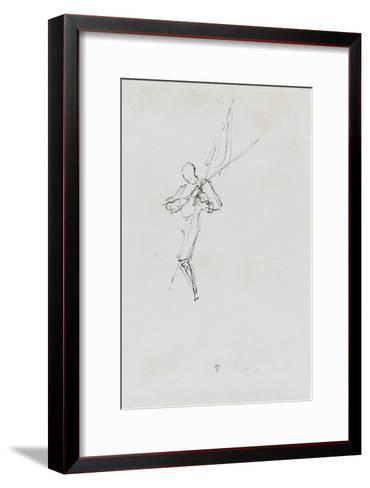 """Etude pour le """"Baptême du Prince impérial""""-Thomas Couture-Framed Art Print"""