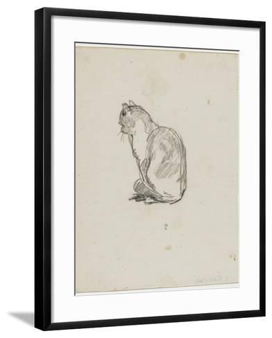 Etude de chat (Villiers)-Thomas Couture-Framed Art Print
