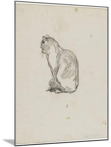 Etude de chat (Villiers)-Thomas Couture-Mounted Giclee Print