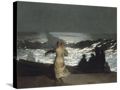 Nuit d'été-Winslow Homer-Stretched Canvas Print