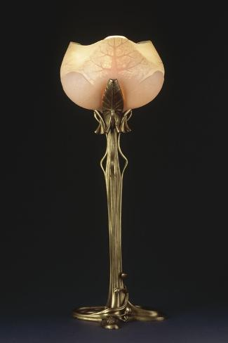 """Table Lamp """"Waterlily"""" Model Created Circa 1902-1904-Louis Majorelle-Stretched Canvas Print"""