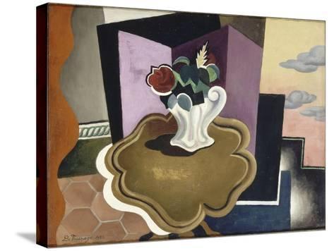 La table Louis-Philippe-Roger de La Fresnaye-Stretched Canvas Print