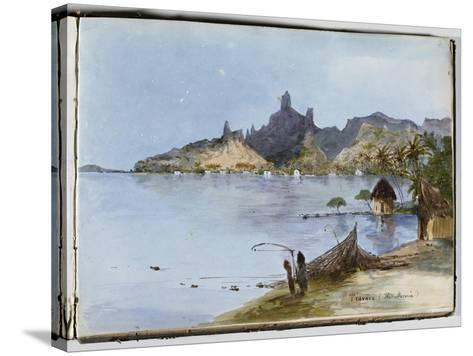 Teavaro (île Moorea)--Stretched Canvas Print