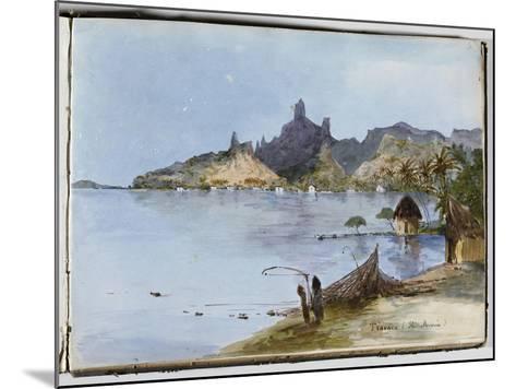 Teavaro (île Moorea)--Mounted Giclee Print