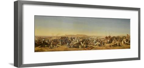 Prise de la Smalah d'Abd El-Kader-Horace Vernet-Framed Art Print