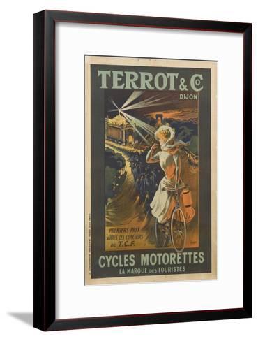Terrot and Co, Dijon, premier prix à tous les concours, cycles Motorettes, la marque des touristes--Framed Art Print
