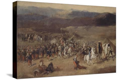 Prise de la smala d'Abd-el-Kader par le duc d'Aumale, 1843-Horace Vernet-Stretched Canvas Print