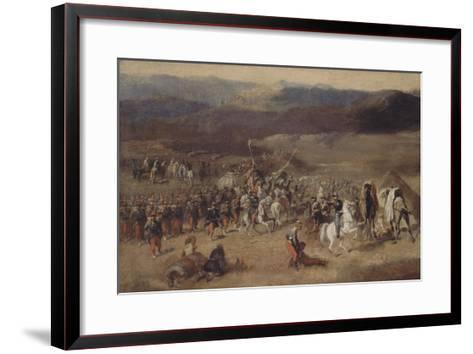 Prise de la smala d'Abd-el-Kader par le duc d'Aumale, 1843-Horace Vernet-Framed Art Print
