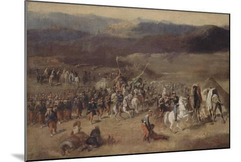Prise de la smala d'Abd-el-Kader par le duc d'Aumale, 1843-Horace Vernet-Mounted Giclee Print