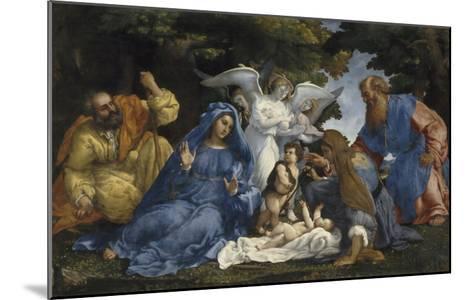L'Adoration de l'Enfant Jésus-Lorenzo Lotto-Mounted Giclee Print