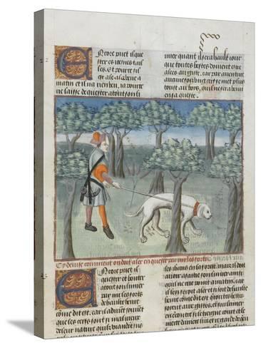 Le Livre de la chasse de Gaston Phébus : manière de chasser le cerf dans la forêt--Stretched Canvas Print