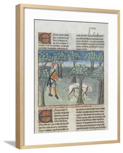 Le Livre de la chasse de Gaston Phébus : manière de chasser le cerf dans la forêt--Framed Art Print