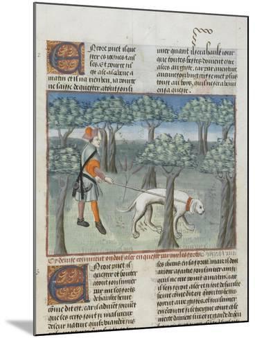 Le Livre de la chasse de Gaston Phébus : manière de chasser le cerf dans la forêt--Mounted Giclee Print