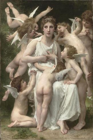L'Assaut-William Adolphe Bouguereau-Stretched Canvas Print