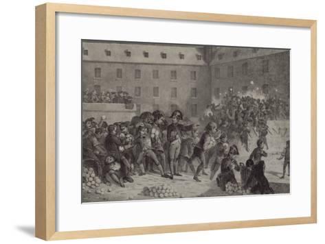 La bataille de boules de neige au collège de Brienne-Denis Auguste Marie Raffet-Framed Art Print
