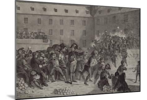 La bataille de boules de neige au collège de Brienne-Denis Auguste Marie Raffet-Mounted Giclee Print