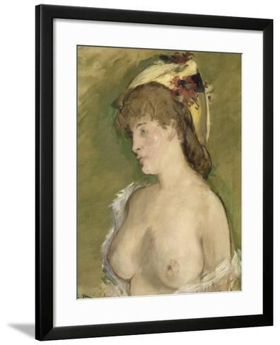 La blonde aux seins nus-Edouard Manet-Framed Art Print